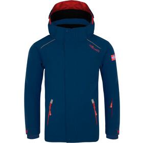 TROLLKIDS Holmenkollen PRO Veste de ski Enfant, navy/red